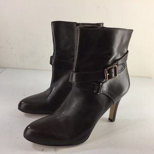 Ann Taylor 7.5 brown Leather High Heel Ankle Boots